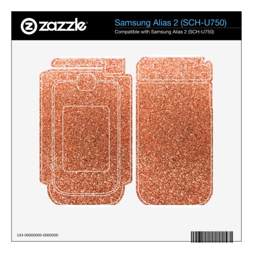 Brillo anaranjado en colores pastel skins para samsung alias 2