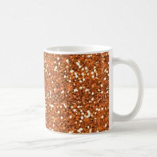Brillo anaranjado oscuro tazas