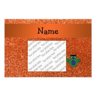 Brillo anaranjado personalizado del frankenstein c impresion fotografica