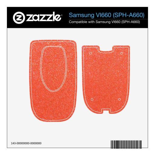 Brillo anaranjado samsung VI660 skins