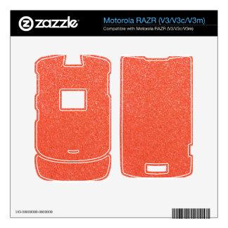 Brillo anaranjado skins para motorola RAZR