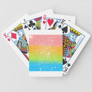 Brillo astral del arco iris en colores pastel baraja cartas de poker