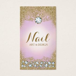 Brillo atractivo del oro del vintage del diamante tarjetas de visita