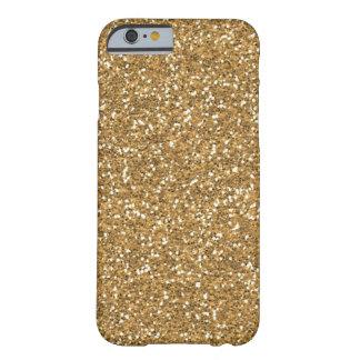 Brillo atractivo del oro falso funda de iPhone 6 barely there