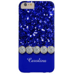 Brillo azul atractivo y caja brillante de los funda de iPhone 6 plus barely there