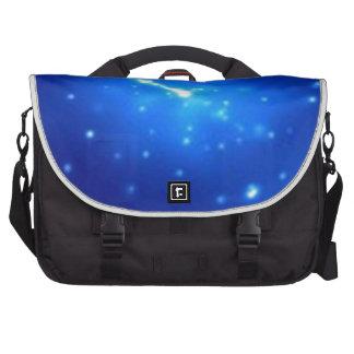 Brillo azul bolsas de portatil