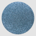 Brillo azul brumoso pegatinas redondas