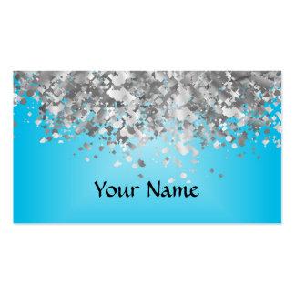 Brillo azul claro y falso plantillas de tarjeta de negocio