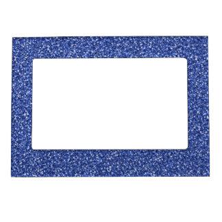 Brillo azul colorido del aniversario de boda marcos magneticos para fotos