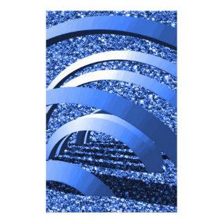 brillo azul con los arcos papeleria
