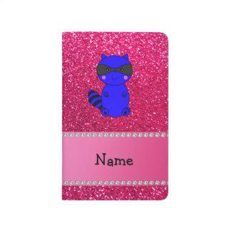 Brillo azul conocido de encargo del rosa del mapac cuaderno grapado