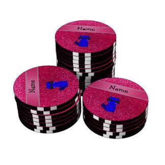 Brillo azul conocido de encargo del rosa del mapac juego de fichas de póquer