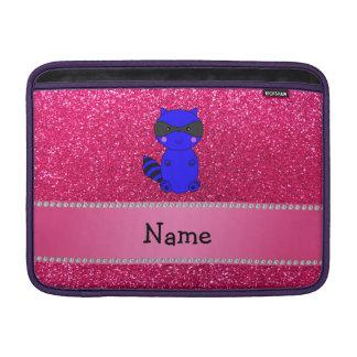 Brillo azul conocido de encargo del rosa del mapac funda para macbook air