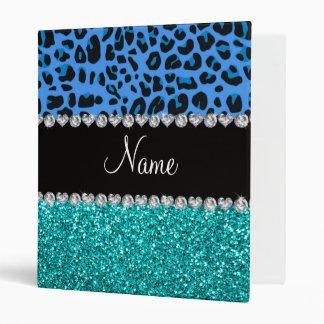 """Brillo azul conocido personalizado de la turquesa carpeta 1"""""""