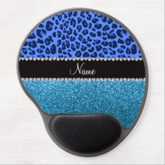Brillo azul conocido personalizado del azul de cie alfombrillas con gel