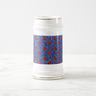 Brillo azul de la fresa jarra de cerveza