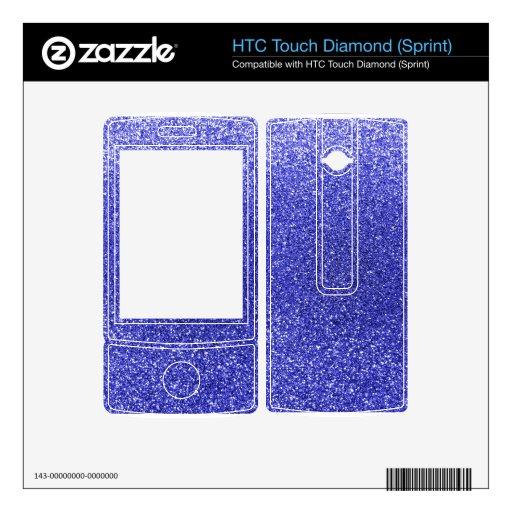 Brillo azul de neón HTC touch diamond skins