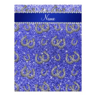 Brillo azul de neón personalizado de las plantillas de membrete