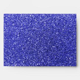 Brillo azul de neón personalizado del bigote conoc sobres