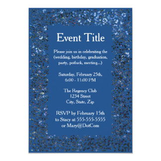 Brillo azul de uso múltiple de la invitación el |