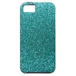 Brillo azul del huevo del petirrojo iPhone 5 Case-Mate protectores