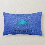 Brillo azul del tiburón azul almohadas