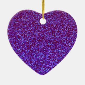 Brillo azul del trullo púrpura combinado adornos de navidad
