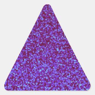 Brillo azul del trullo púrpura combinado pegatina triangular