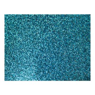 Brillo azul elegante tarjetón