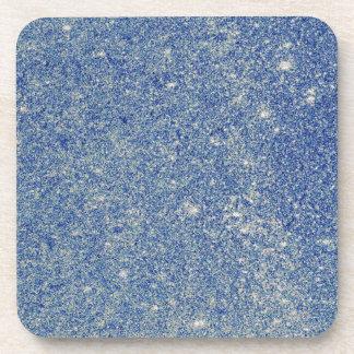 Brillo azul fabuloso posavasos