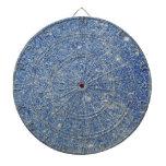Brillo azul fabuloso tablero de dardos
