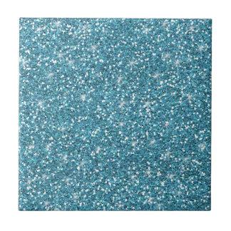 Brillo azul impreso azulejo cuadrado pequeño