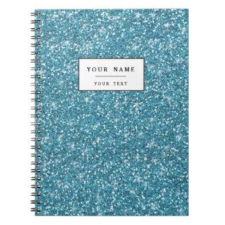 Brillo azul impreso cuadernos