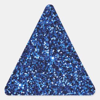 Brillo azul pegatina triangular