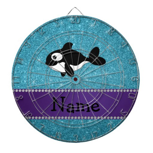 Brillo azul personalizado de la orca conocida tabla dardos