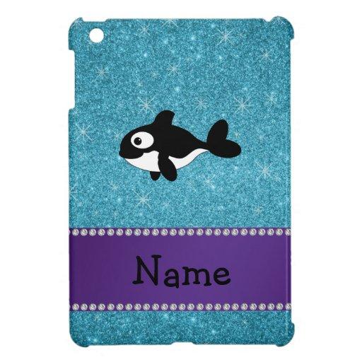 Brillo azul personalizado de la orca conocida iPad mini funda