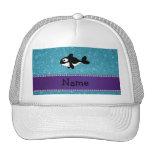 Brillo azul personalizado de la orca conocida gorras