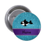 Brillo azul personalizado de la orca conocida pins