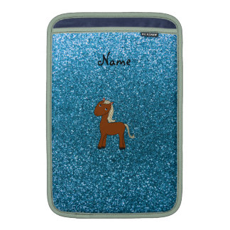 Brillo azul personalizado del caballo conocido fundas para macbook air
