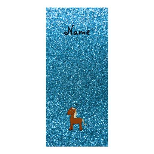 Brillo azul personalizado del caballo conocido tarjetas publicitarias