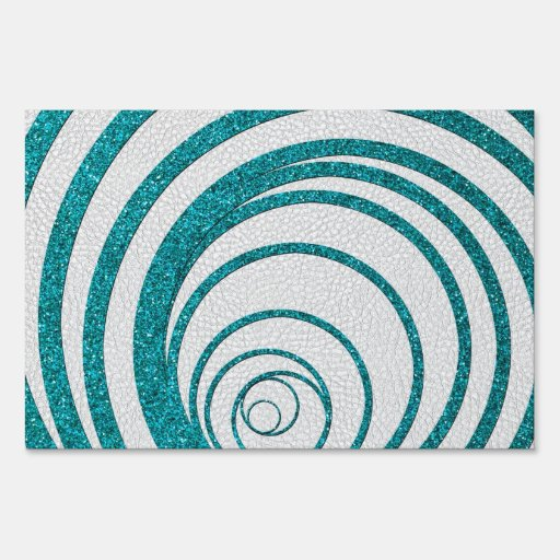 Brillo azul Swirly