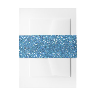 Brillo azul y de plata brillante cintas para invitaciones