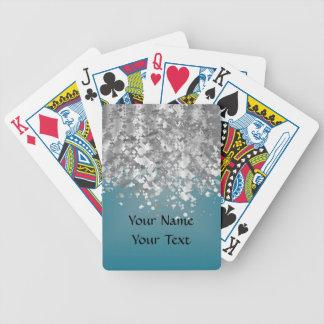 Brillo azul y falso del trullo baraja cartas de poker