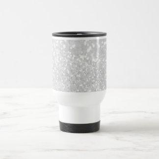 brillo blanco del encanto elegante elegante falso taza térmica