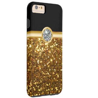 Brillo Bling del oro Funda Para iPhone 6 Plus Tough