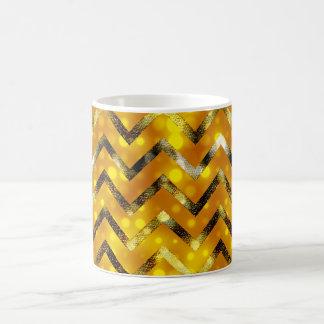Brillo bling femenino del oro del brillo taza clásica