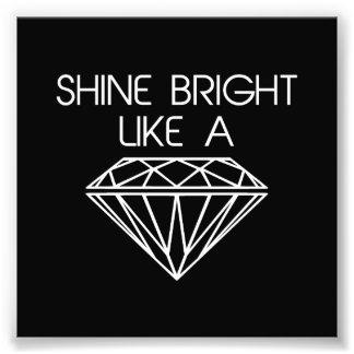 Brillo brillante como un diamante impresion fotografica