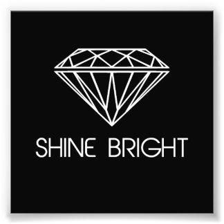 Brillo brillante como un diamante fotografía