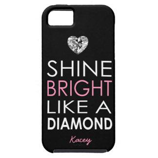 Brillo brillante como un diamante - personalizado funda para iPhone SE/5/5s