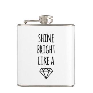 Brillo brillante como un diamante petaca